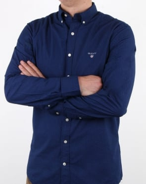 Gant Broadcloth Dot Shirt Yale Blue