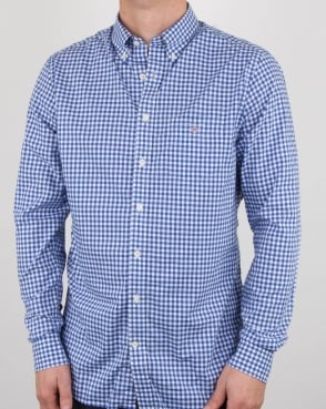 Gant Broadcloth Gingham Shirt Yale Blue