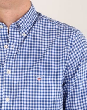 Gant Broadcloth Gingham Shirt Yale Blue
