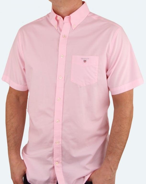 Gant Broadcloth Short Sleeve Shirt Pink