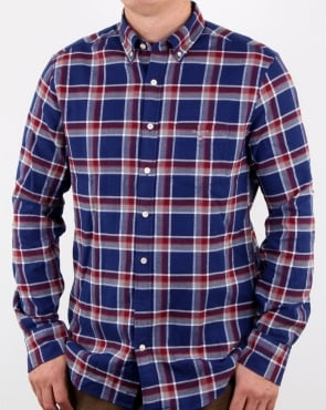 Gant Brushed Oxford Check Shirt Persian Blue