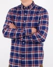 Gant Brushed Oxford Check Shirt Persian Blue