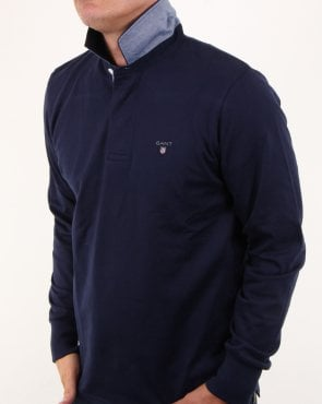 Gant Classic Rugby Shirt in Navy
