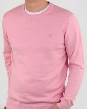 Gant Cotton Crew knit Pink Melange