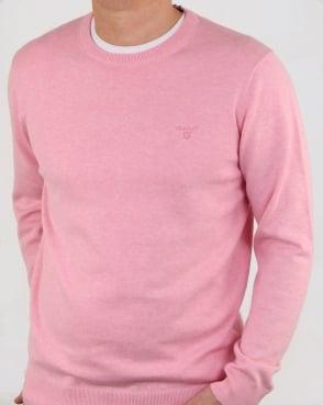 Gant Cotton Crew knit Pink Melange