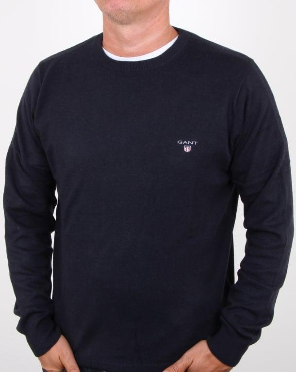 Gant Cotton Wool Crew Jumper Navy