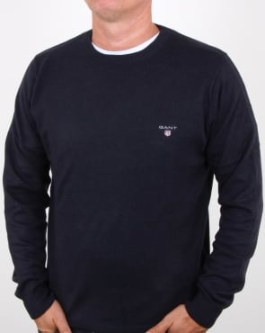 Gant Cotton Wool Crew Jumper Navy