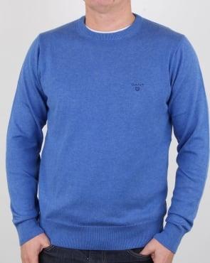 Gant Cotton Wool Crew Sweat Blue Melange