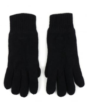 Gant Cotton Wool Gloves Navy