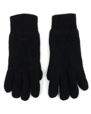 Gant Cotton Wool Gloves Navy