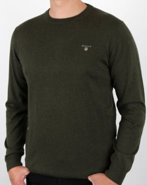 Gant Cotton Wool Jumper Hunter Green