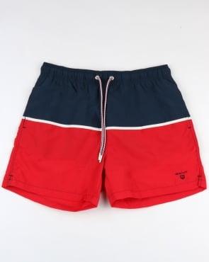 Gant Cut & Sewn Swim Shorts Bright Red