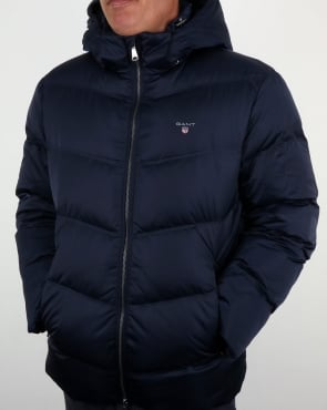 Gant Down Filled Padded Jacket Marine Blue