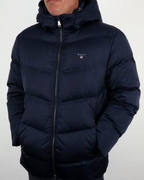 Gant Down Filled Padded Jacket Marine Blue