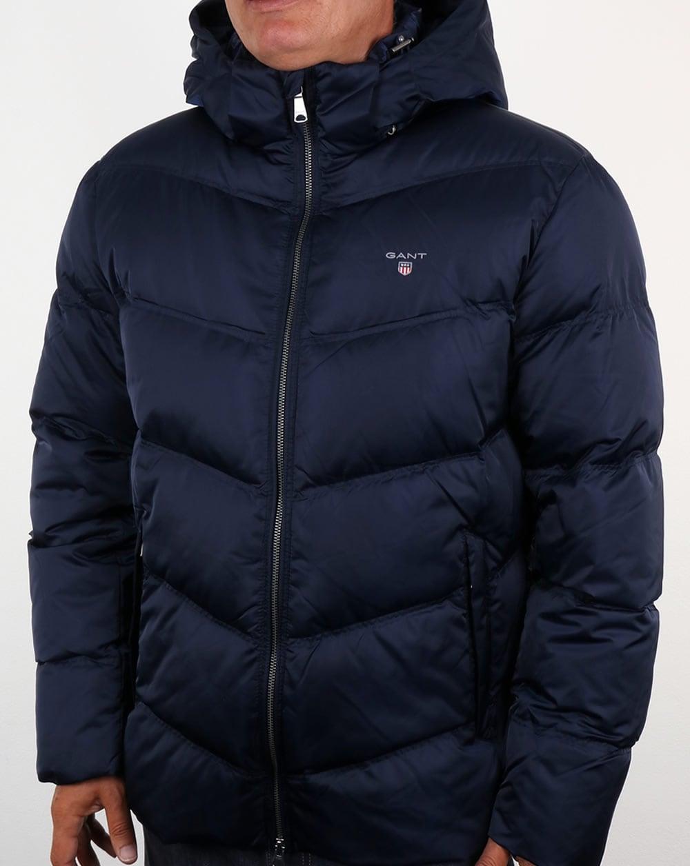85a9add83c5 Gant Down Filled Padded Jacket Marine Blue