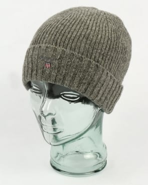 Gant Fleece Lined Beanie Dark Grey