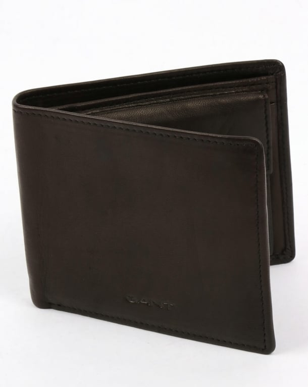 Gant Leather Wallet Black Mud