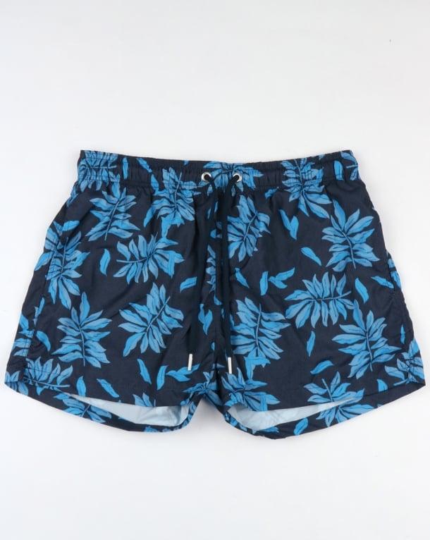 Gant Leaves Swim Shorts Navy