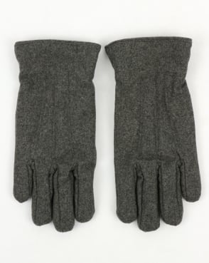 Gant Melton Gloves Charcoal Melange