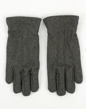 Gant Melton Gloves Charcoal Melange