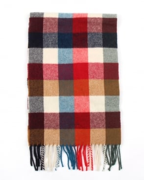 Gant Multicheck Scarf Bright Red