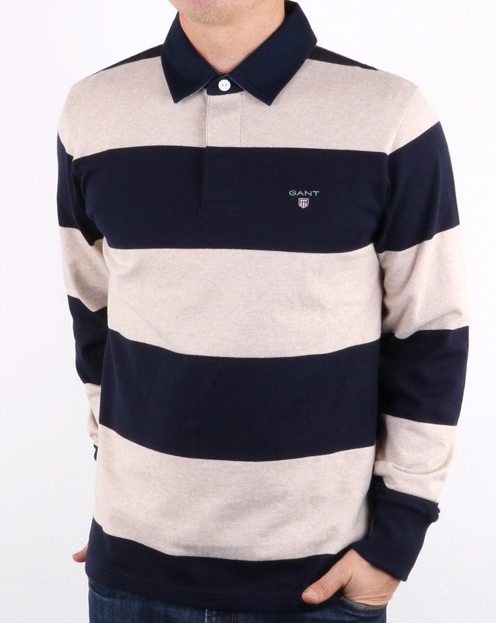 Shirts Mens Polo Clothing Heavy Rugger Original Barstripe Gant Pa10Fz
