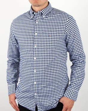 Gant Oxford Gingham Shirt Persian Blue