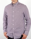 Gant Oxford Gingham Shirt Purple Wine
