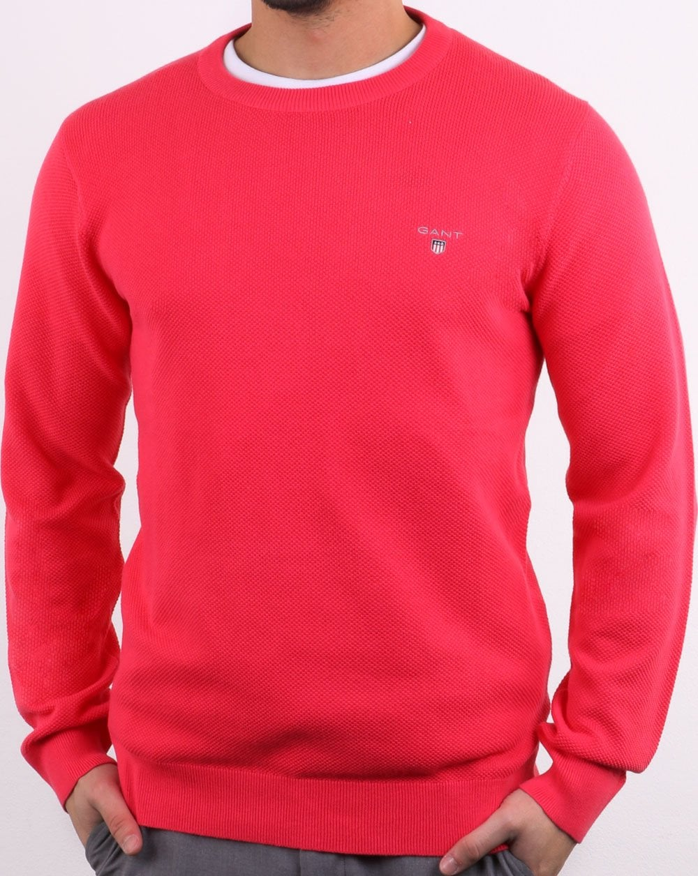 where to buy skate shoes the best attitude Gant Pique Crew Neck Jumper Watermelon Red