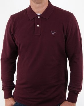 Gant Pique Ls Rugger Polo Purple Fig