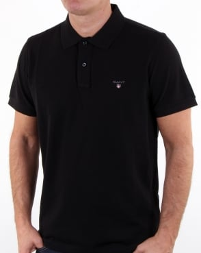 Gant Pique Rugger Polo Black