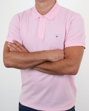 Gant Pique Rugger Polo California Pink