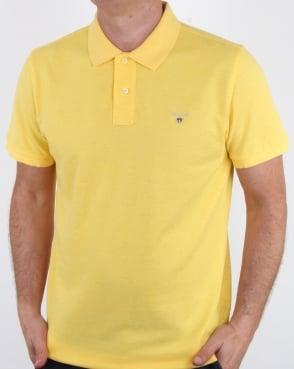 Gant Pique Rugger Polo Light Yellow Melange