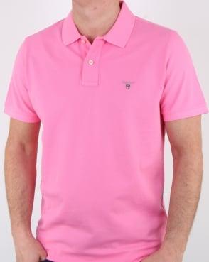 Gant Pique Rugger Polo Pink