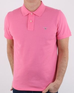 Gant Pique Rugger Polo Pink Rose