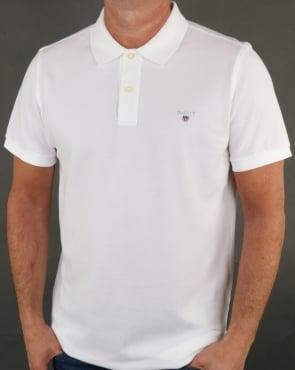 Gant Pique Rugger Polo White