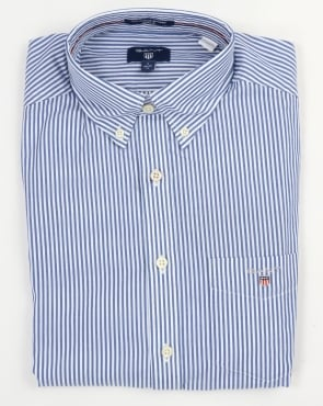 Gant Poplin Banker Striped Shirt Yale Blue