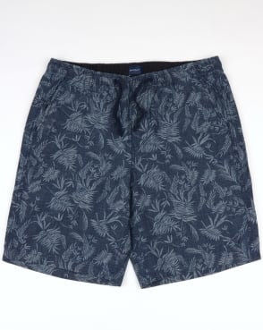 Gant Relaxed Printed Shorts Classic Blue
