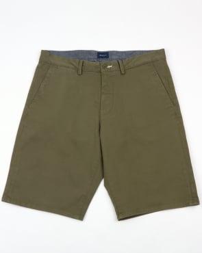Gant Relaxed Twill Shorts Kalamata Green