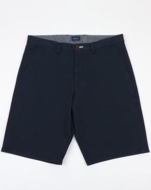 Gant Relaxed Twill Shorts Navy
