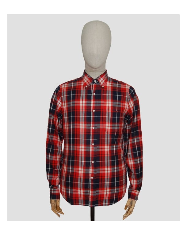 Gant Rugger Windblown Twill Check Shirt Red
