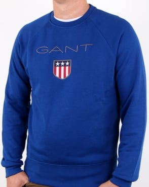 Gant Shield Crew Sweat Yale Blue