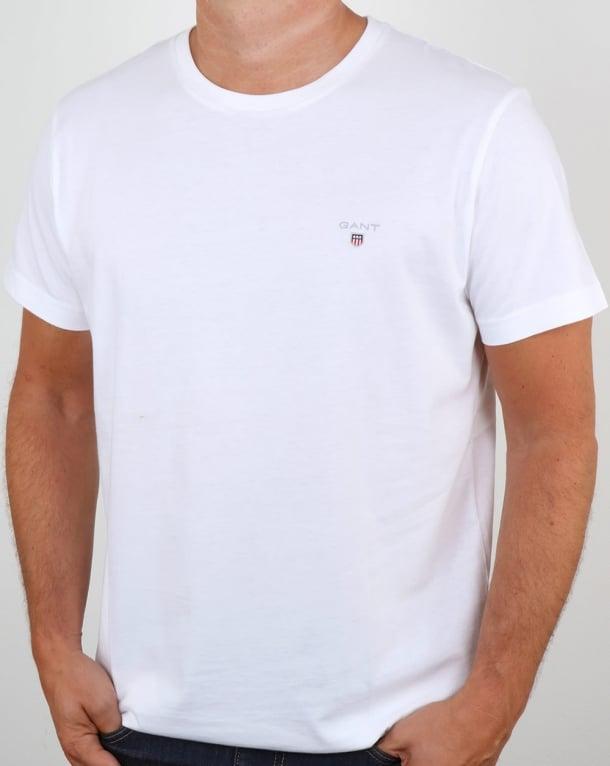 Gant Solid Crew Neck T Shirt White