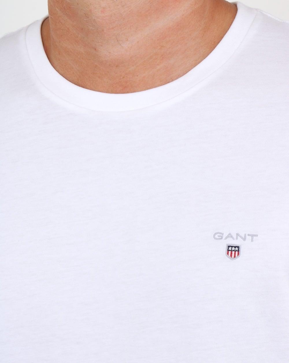 a045b68ff29e07 Gant Solid Crew Neck T Shirt White | 80s casual classics