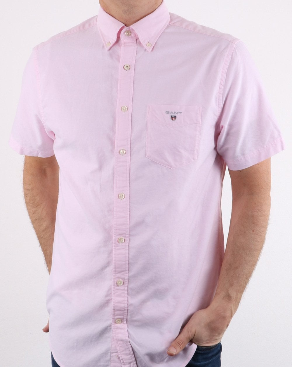 0ed649f8c Gant The Oxford Shirt Reg Short Sleeve Shirt Light Pink