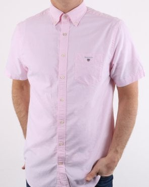 Gant The Oxford Shirt Reg Short Sleeve Shirt Light Pink