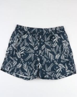 Gant Thin Leaves Swim Shorts Navy