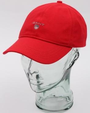 Gant Twill Cap Bright Red