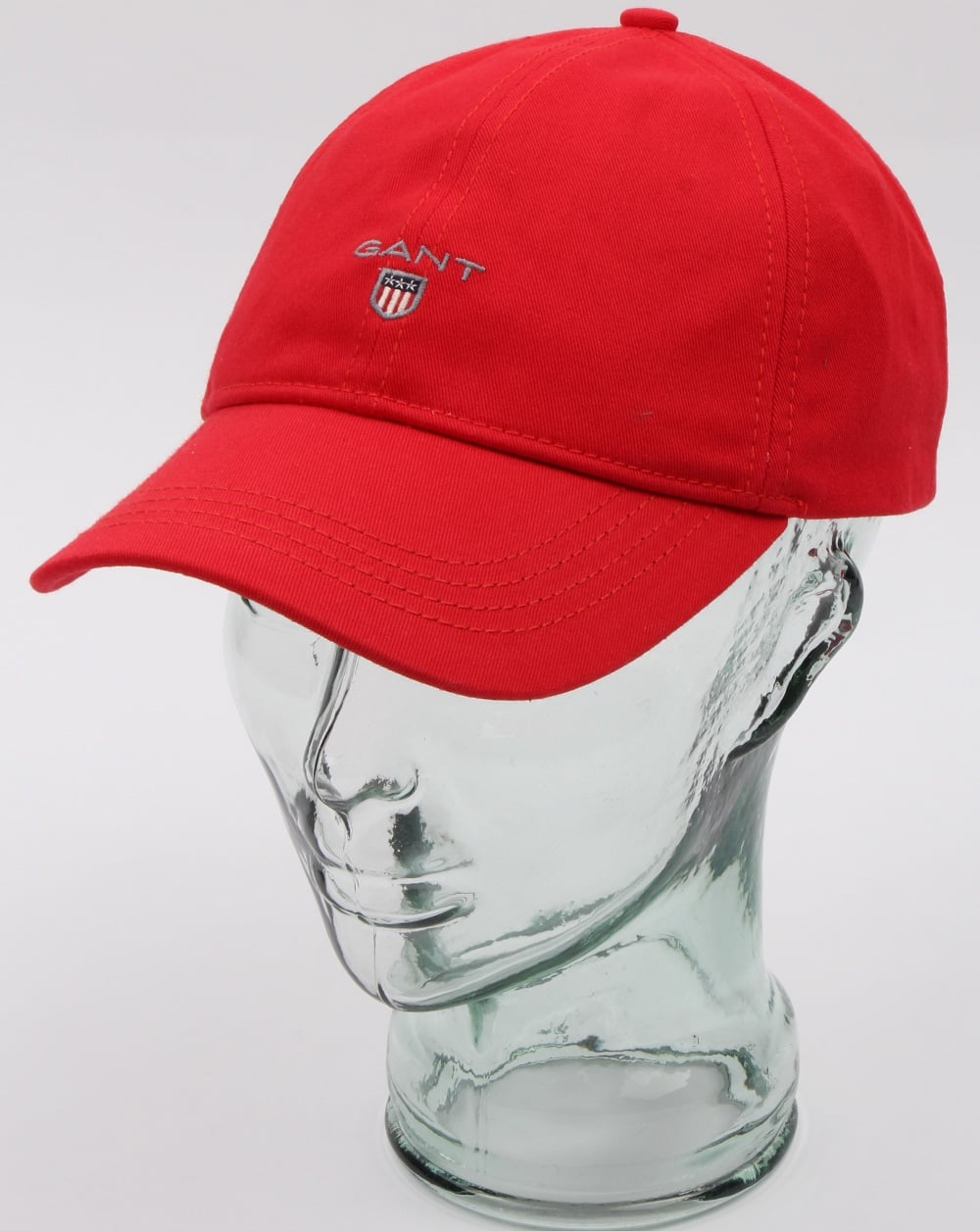 GANT Gant Cotton Twill Baseball Cap in Red curved peak hat