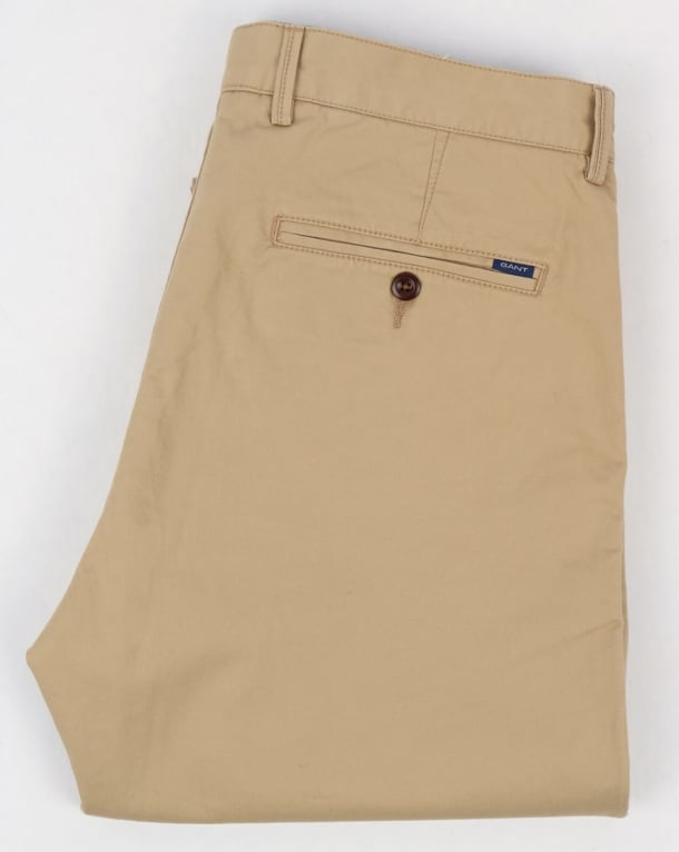 Gant Twill Chino in Light Sand - soft stretch